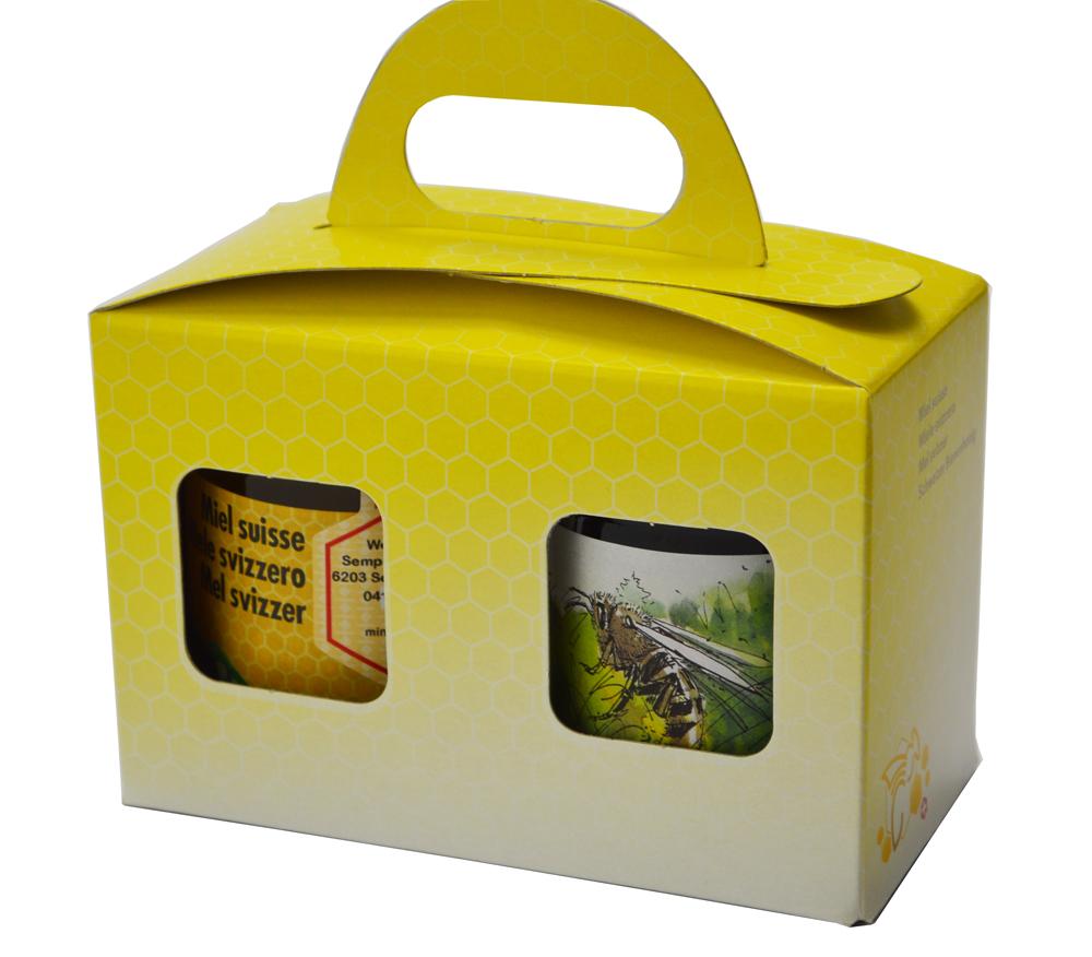 Geschenkpackung Gelb/Biene 2 x 500 g