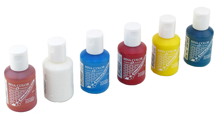 Bina-Color Set 6 Farben, 100 ml