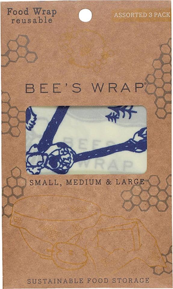 """Bienenwachstuch """"Bees & Bears"""" Set 3 Grössen (S, M, L)"""