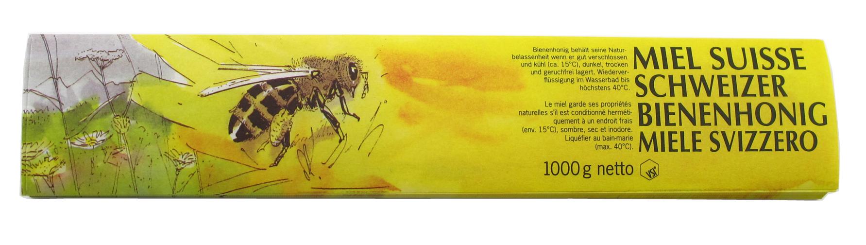 VSI Honig Etiketten 1000 g gelb