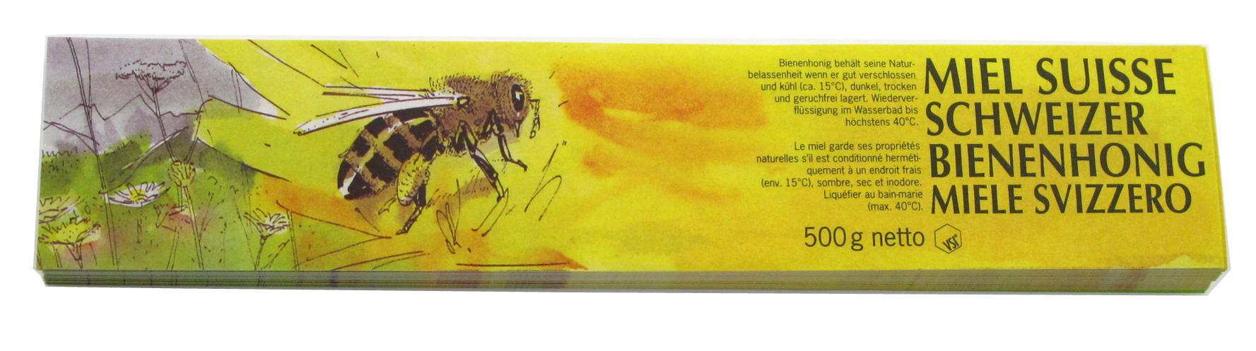 VSI Honig Etiketten 500 g gelb