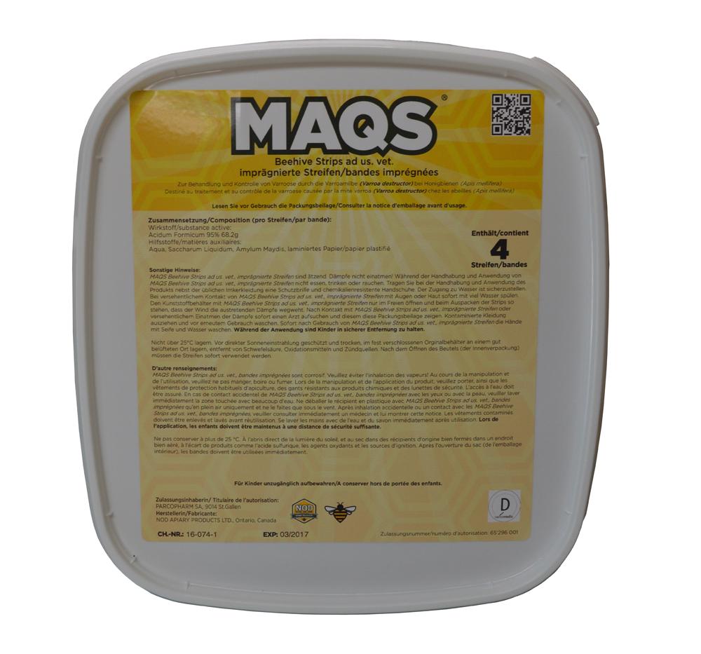 MAQS Beehive Strips (4 Streifen)