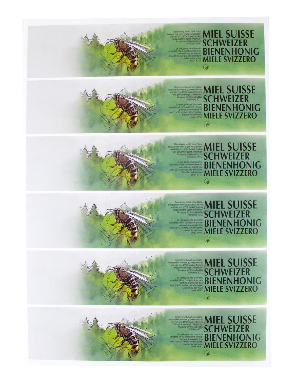 A4 VSI Honigetiketten-Bogen Grün