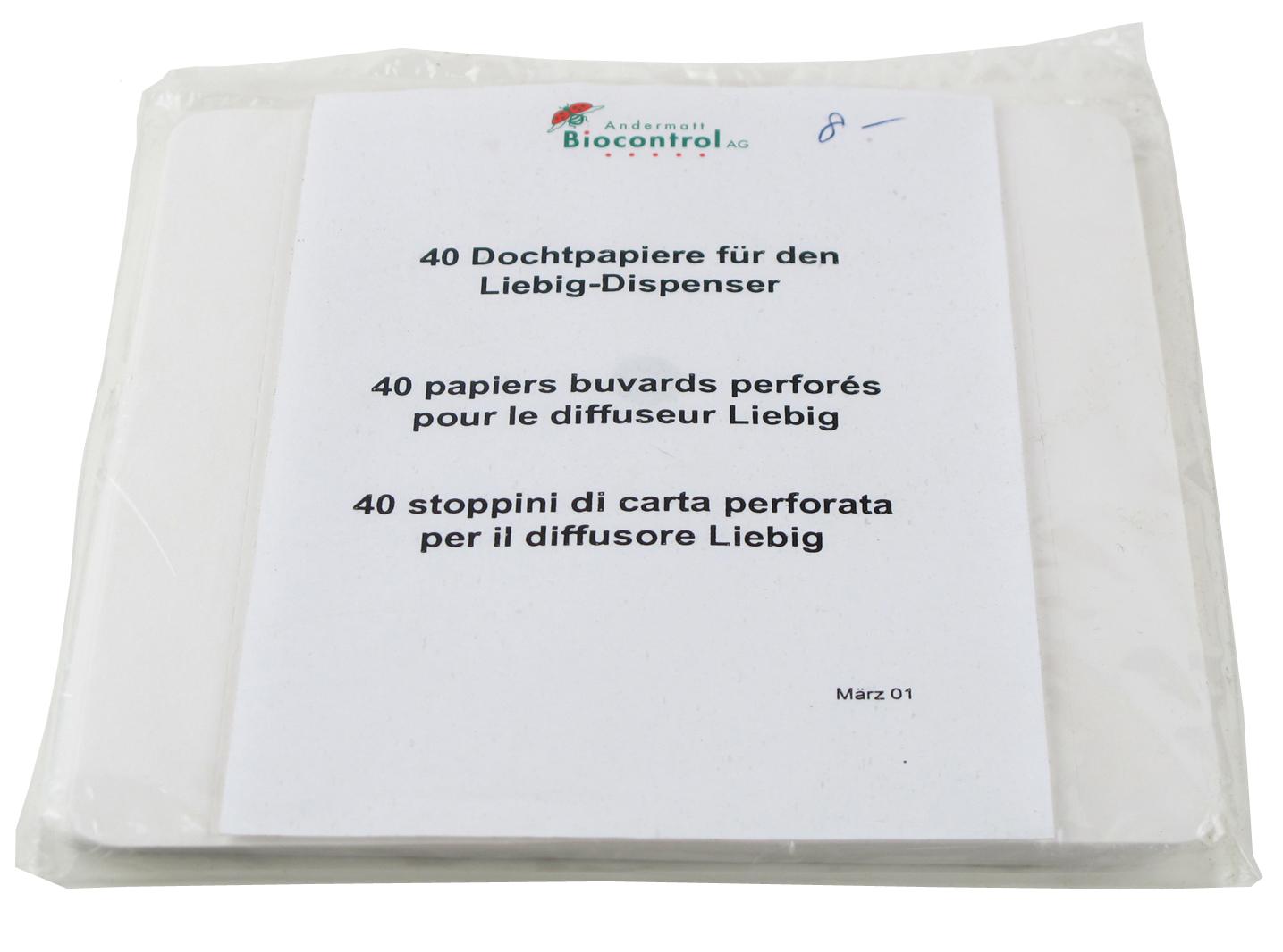 Dochtpapiere für den Liebig-Dispenser