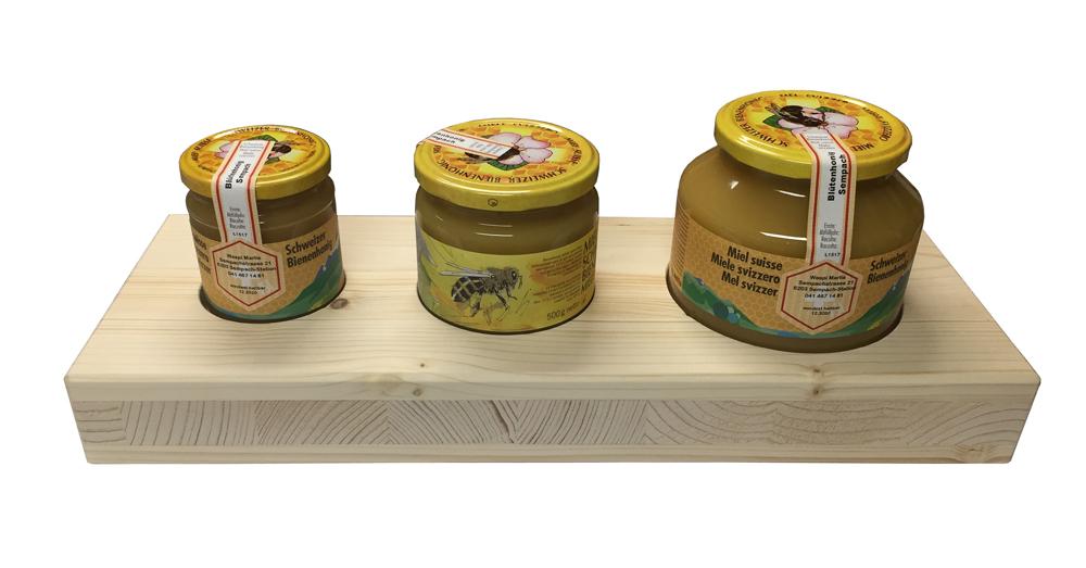 Etikettier-Brett für Honiggläser