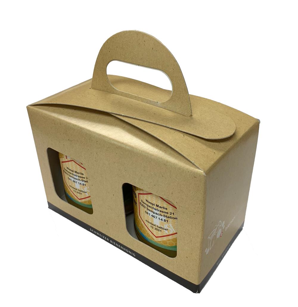Geschenkpackung Natur/Schwarz 2 x 250 g