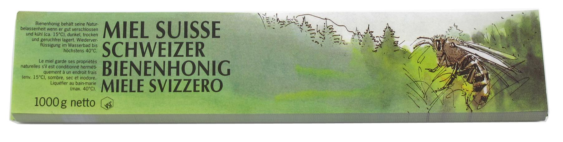 VSI Honig Etiketten 1000 g grün