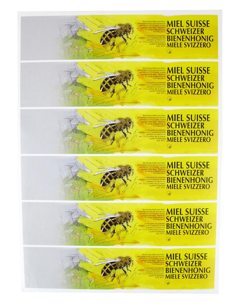 A4 VSI Honigetiketten-Bogen Gelb