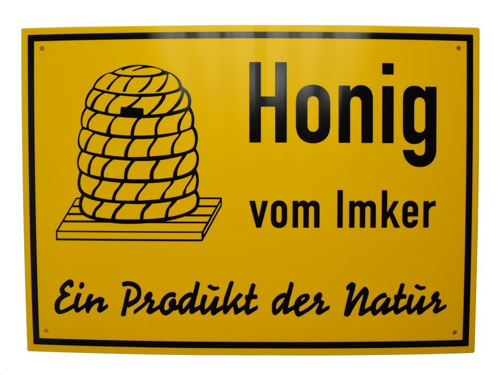 Reklame Tafel mittel - Honig vom Imker