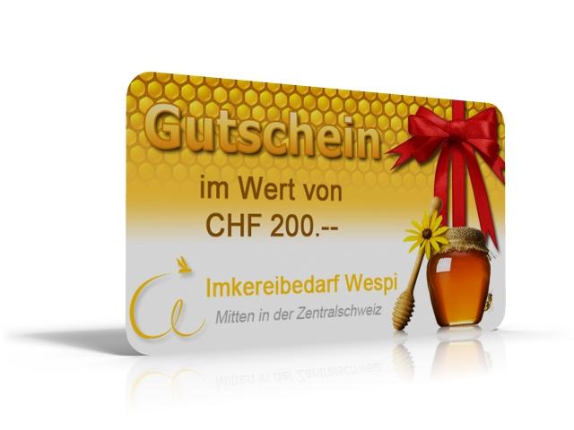 GESCHENK GUTSCHEIN 200.- SFR