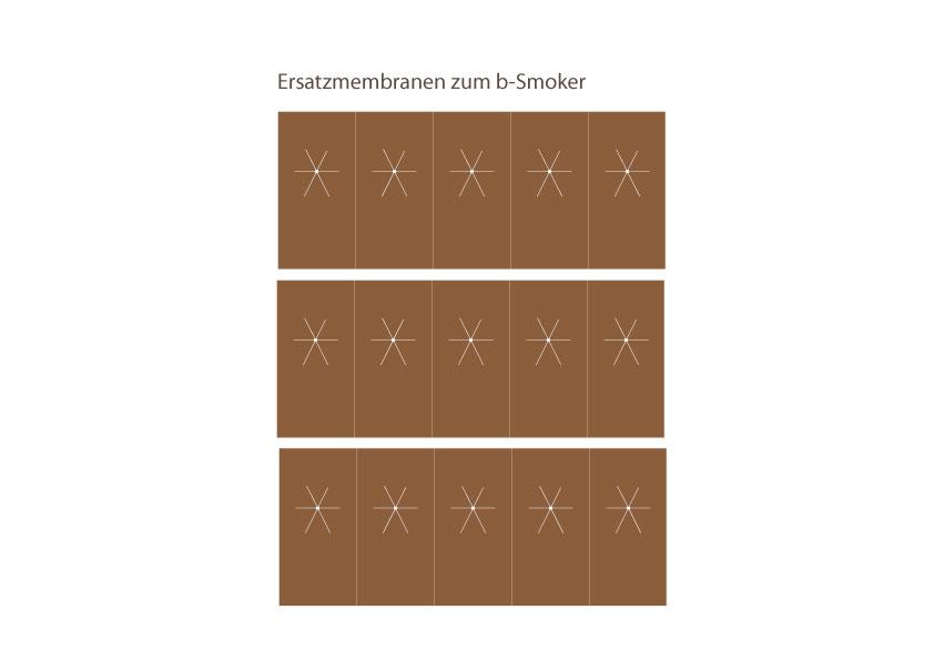Ersatzmembranen zu b-Smoker 15 Stk.