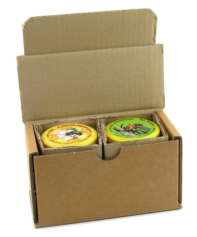 Honig Versandpackung 2x1/4 Glas