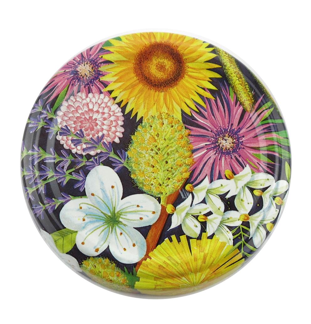 Honigglasdeckel Blumen 63mm