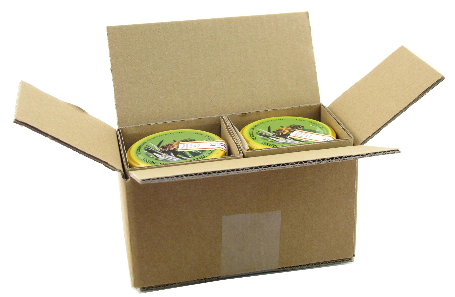 Honig Versandpackung 2x1/2 Glas