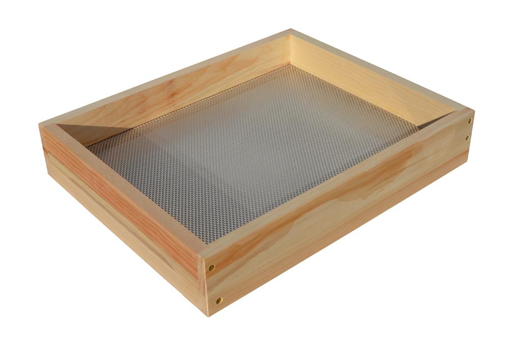 Plateau avec grille en aluminium