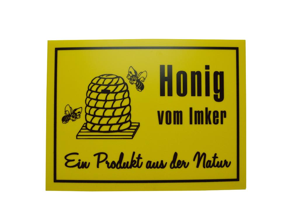 Reklame Tafel klein - Honig vom Imker
