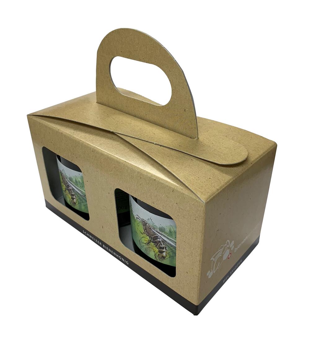 Geschenkpackung Natur/Schwarz 2 x 500 g