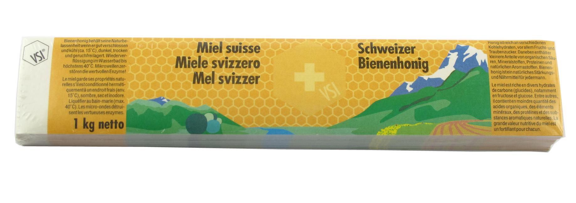 VSI Schweizer Honig Etikette 1000 g